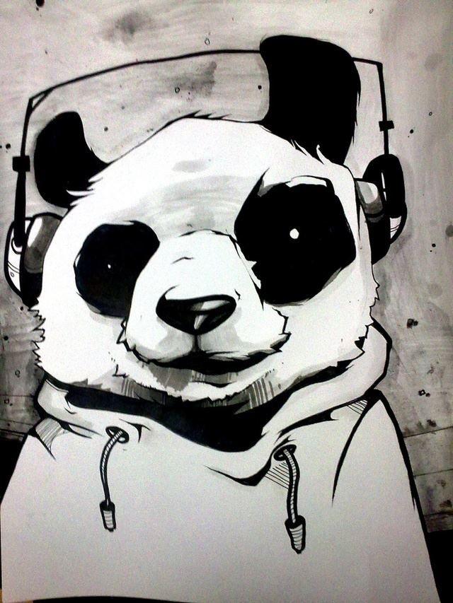 Крутые панды рисунки