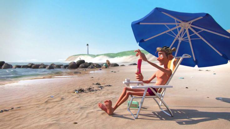 Gooi geen afval in de zee of op het strand, je wordt in het oog gehouden!