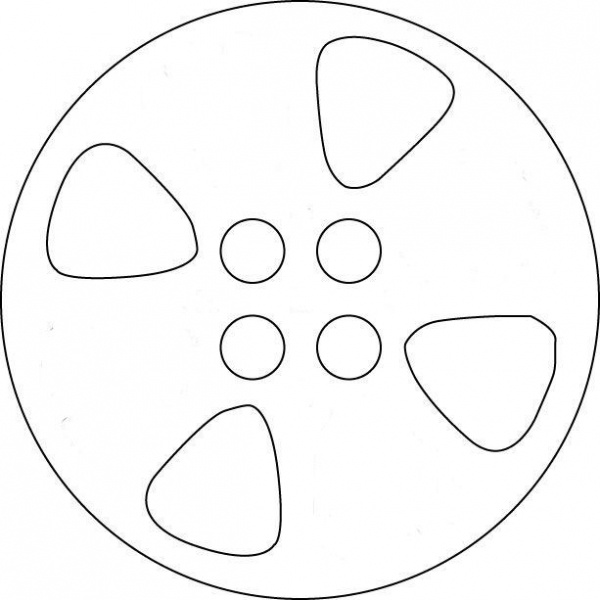 Movie Reel Template Cakes Reels Theater Party Kids