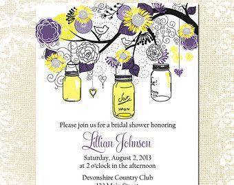 Bridal Shower Einladung Sonnenblume Von WillowLaneStationery