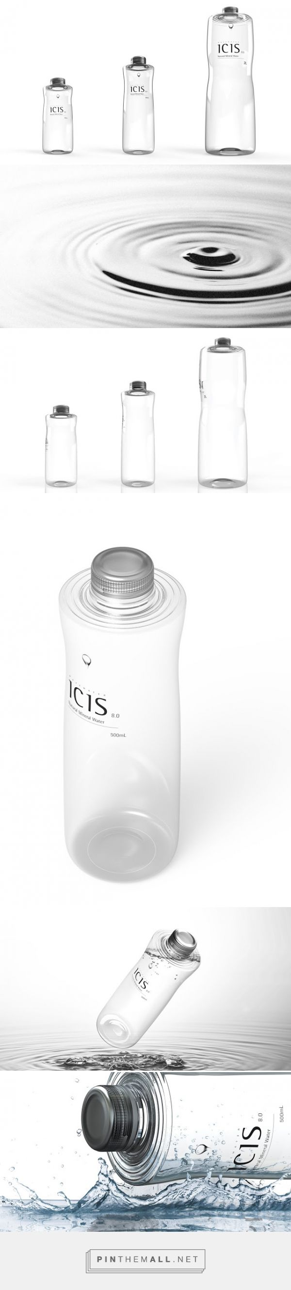 ICIS ‪‎Ripple‬ ‪‎Water‬ ‪‎Concept‬ ‪‎Packaging‬ designed by Choi Seungho - http://www.packagingoftheworld.com/2015/11/icis-wave-water-concept.html