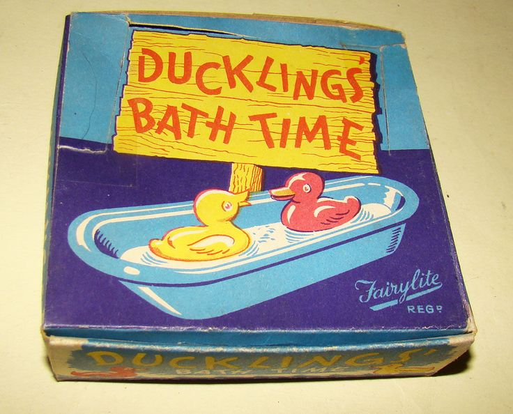 Vintage Fairylite 'Ducklings' Bath Time' in original box