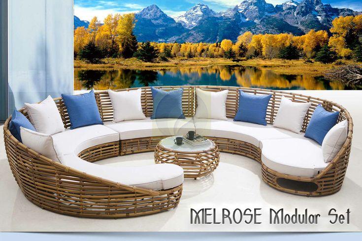 MELROSE Modular Set – Synthetic Rattan Furniture