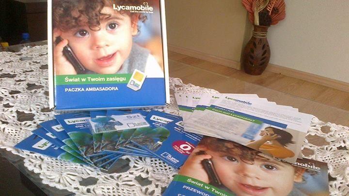 Paczka ambasadora Lycamobile dotarła, więc kampanie czas zacząć!!! #swiatwtwoimzasiegu https://www.facebook.com/photo.php?fbid=631804636909537&set=o.145945315936&type=1