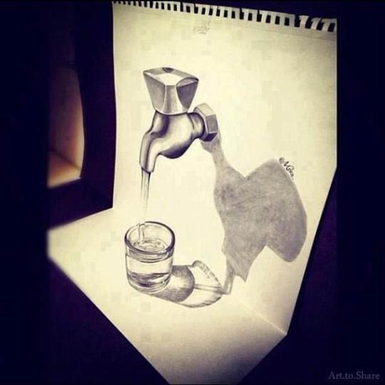 3D drawing art