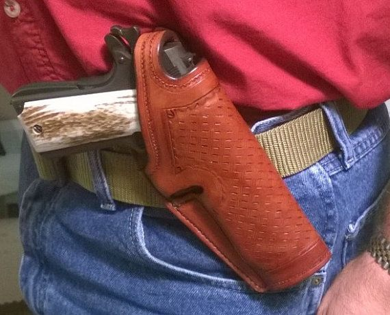 Crossdraw Paddle Holster for 1911 by BoomtownHolsters on Etsy