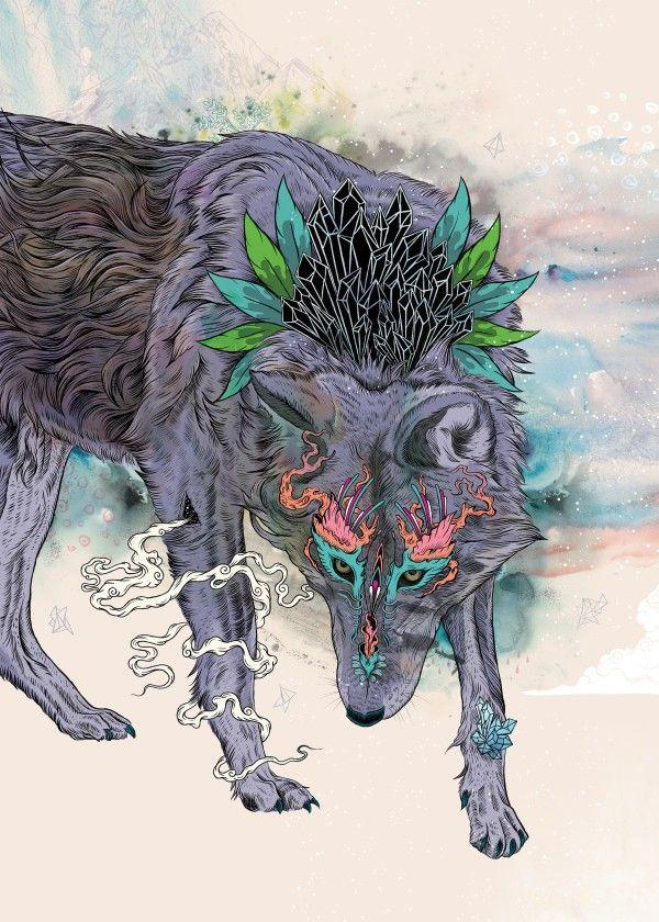 """""""Journeying Spirit"""" metal poster by Mat Miller #animal"""
