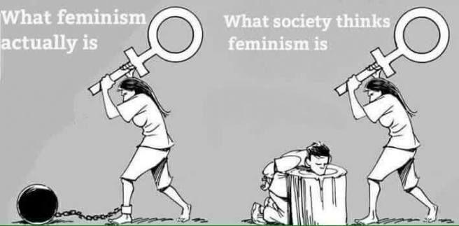 Ce que c'est le féminisme VS ce que la société pense qu'est le féminisme.