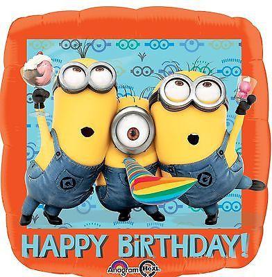 11 pc Despicable Me Minions Happy Birthday Balloon Bouquet Party Cartoon