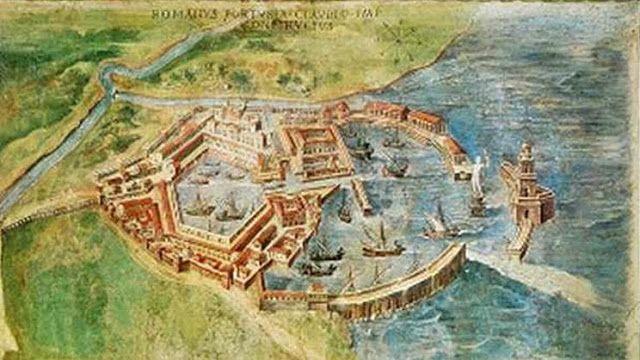 Porti Imperiali di Roma - Il complesso dei porti di Claudio (42-54 d.C.) e di Traiano (102-112 d.C.) è una delle meraviglie dell'ingegneria antica, del genio portuale romano. Il primo porto fu fatto costruire per ovviare alle grandi difficoltà di accesso alla foce naturale del Tevere, ora Fiumara Grande, a causa di grandi banchi di sabbia formati dalle correnti e liberando la foce si riusciva a controllare i flussi di piena per salvaguardare Roma dalle inondazioni…