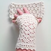 crocheted mittens | fingerless mittens | fingerless mitts | wrist warmers | heklede pulsvanter | heklede pulsvarmere | crochet pattern