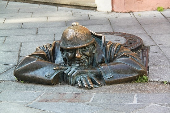 Bratislava's old town, Munich, Germany.