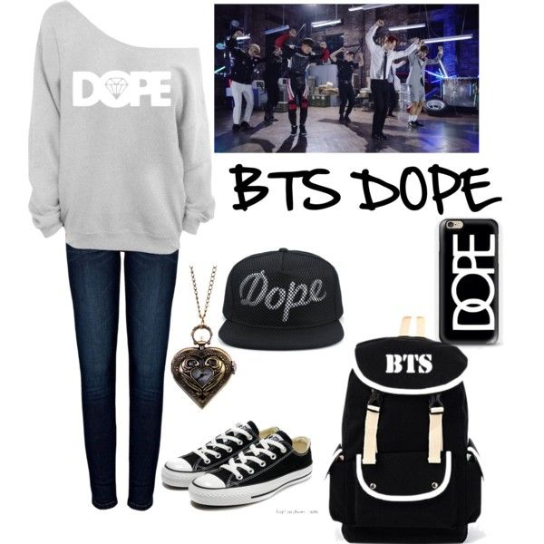 BTS dope by sweetpandayowhat on Polyvore featuring polyvore fashion style Anine Bing Converse Casetify