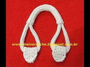 Cómo hacer manijas o asas para las carteras, bolsas y bolsos tejidos al crochet…
