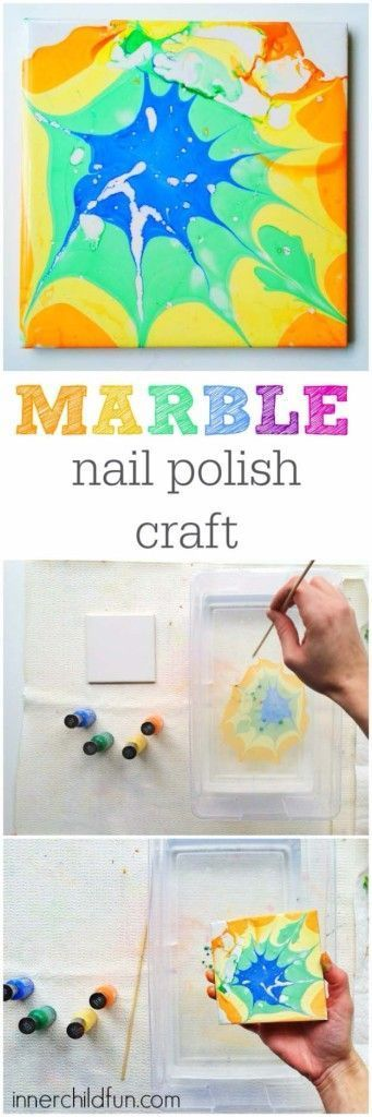 DIY Crafts Using Nail Polish - Fun, Cool, Easy and Cheap Craft Ideas for Girls, Teens, Tweens and Adults   Marble Nail Polish Craft