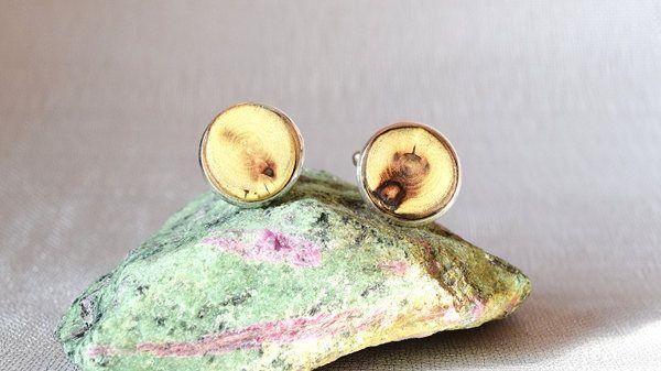 Cufflinks from acacia wood, wooden cufflinks by Mazunii on Etsy