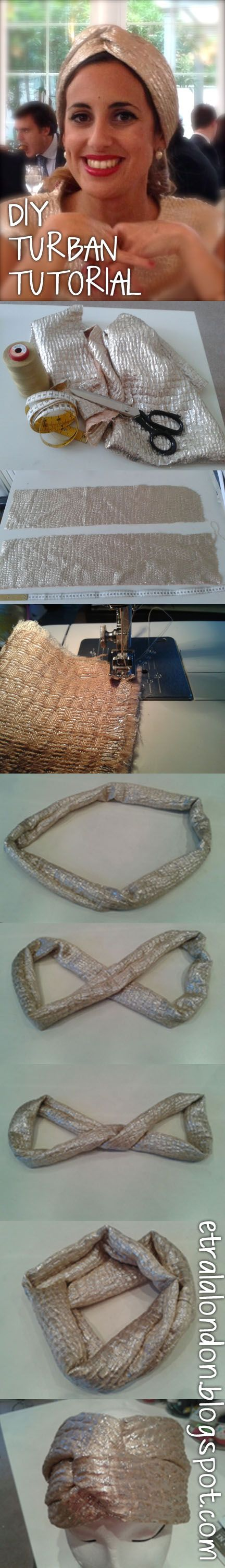 GREAT TUTORIAL - easy ladies turban!  DIY: Turban tutorial!