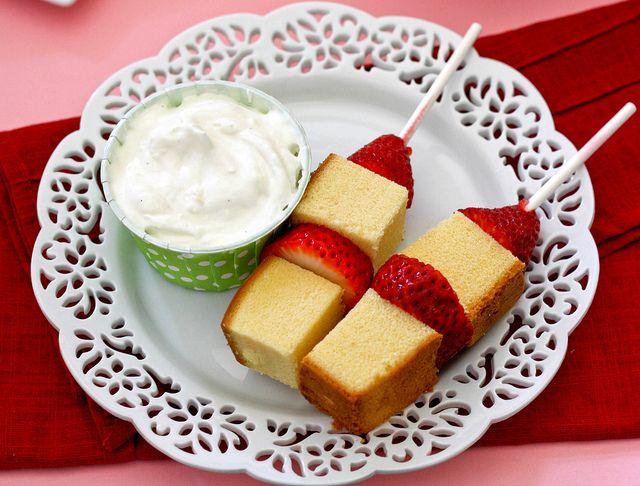 Strawberry shortcake kebabs  cookbookqueen, via Flickr