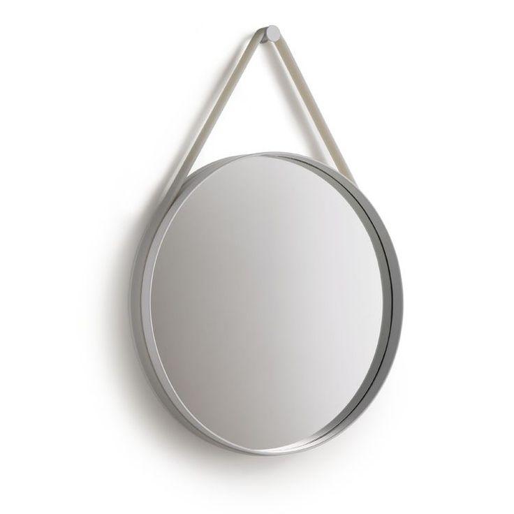 Strap Mirror Ø70, grå i gruppen Inredningsdetaljer / Hemmets bra att ha / Speglar hos RUM21.se (110542)