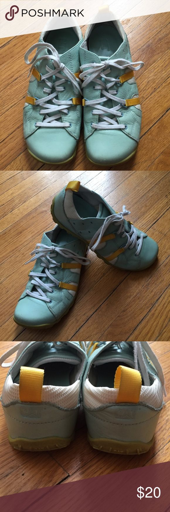 CAT Shoes Super cute and fun shoes. Very comfortable for walking or shopping.  Gently used. Caterpillar Shoes Sneakers