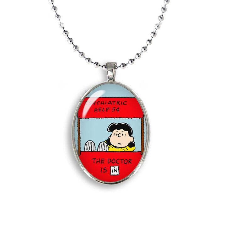 Lucy van Pelt Oval Pendant Psychiatric Help Necklace Snoopy Jewelry Cosplay Fangirl Fanboy by FandomLoversUnite on Etsy https://www.etsy.com/listing/477155436/lucy-van-pelt-oval-pendant-psychiatric