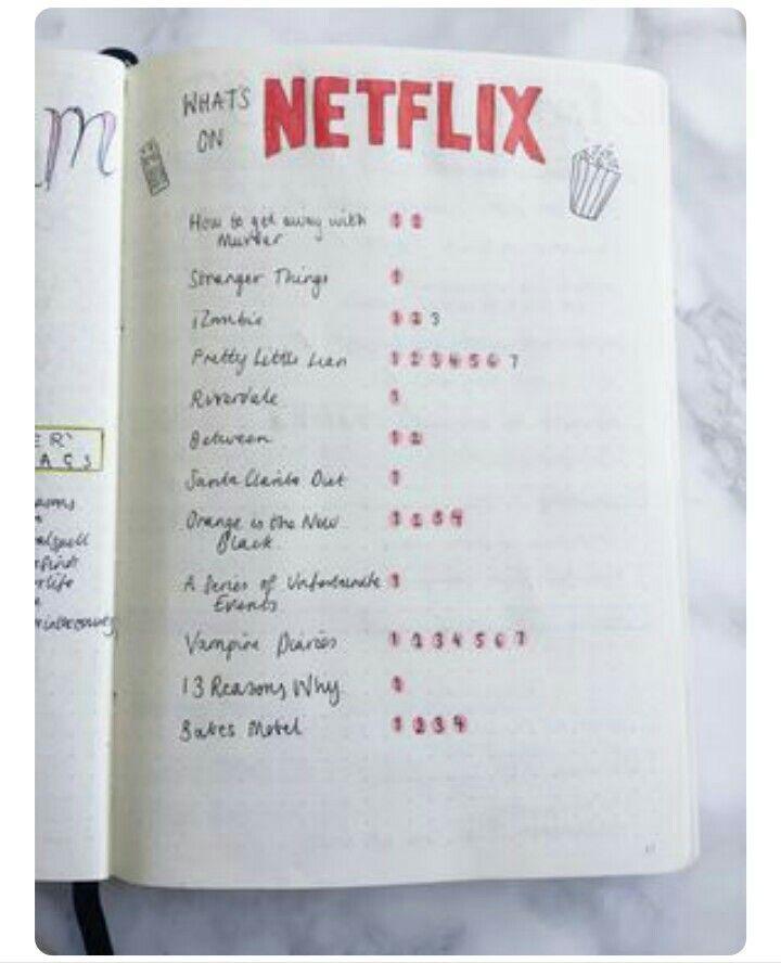 Netflix End Chill Journal Bullet Journal Bullet