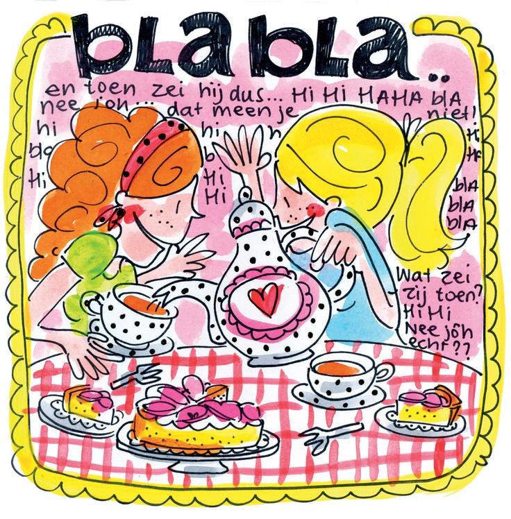 Blah blah kaart van Blond Amsterdam