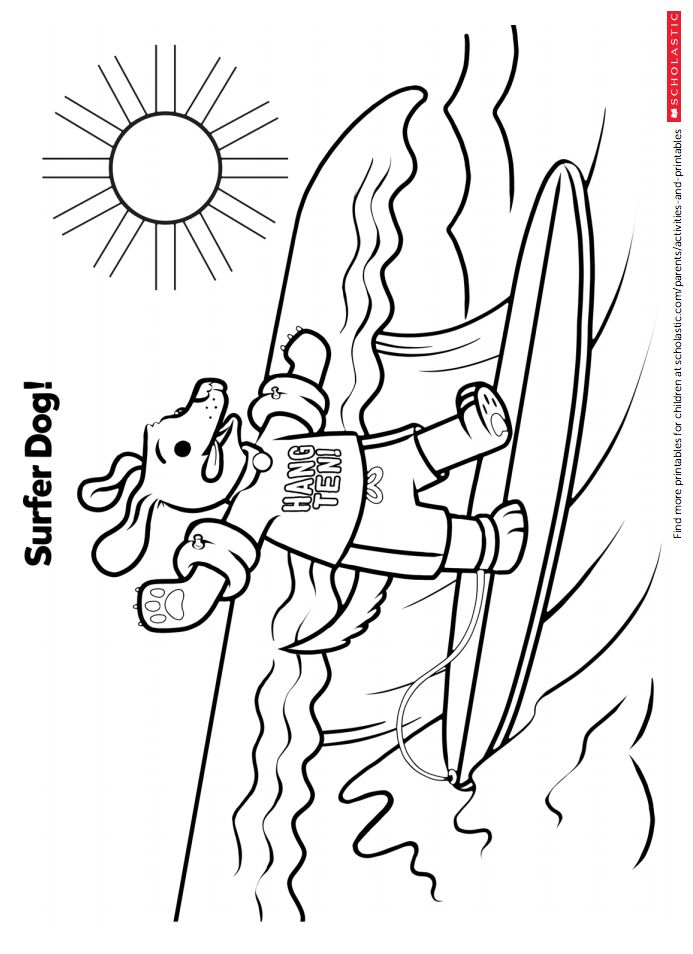 Hang Ten With This Surfing Coloring Sheet