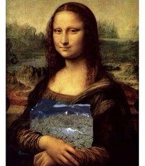 Mens Cotton Pocket Square - Mona Lisa Da Vinci by VIDA VIDA GLKPDTYi4L