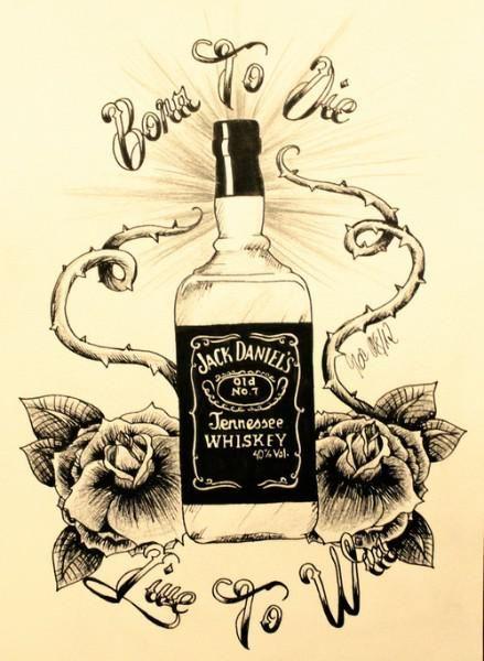 Jack Daniel's Babes   born to die jack daniels born to die jack daniels jack daniels tattoos ...