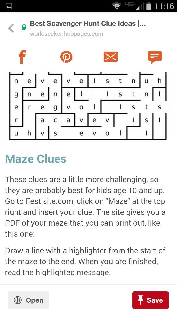 Maze Clue Escape Room Puzzles Escape Room Game Escape The Classroom