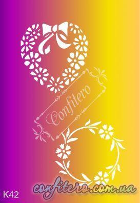 Трафарет многоразовый K42 - Confitero - Имбирные пряники, трафареты для пряников и тортов
