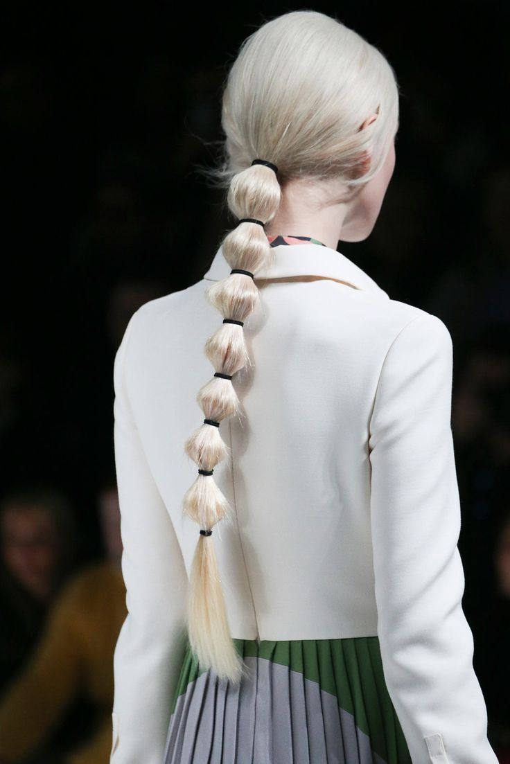 lostinfiber:  wildthicket Hair at Valentino F/W 2014 at PFW