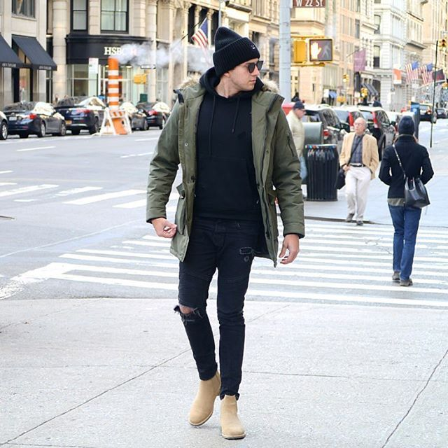 Cold days in NYC - Parka Weather  how do you like the Look ? Follow me on Snapchat  StreetandGentle