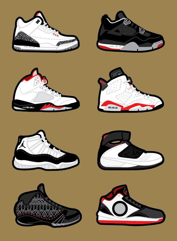 Tinker Hatfield Air Jordan design drawings by Robb Harskamp