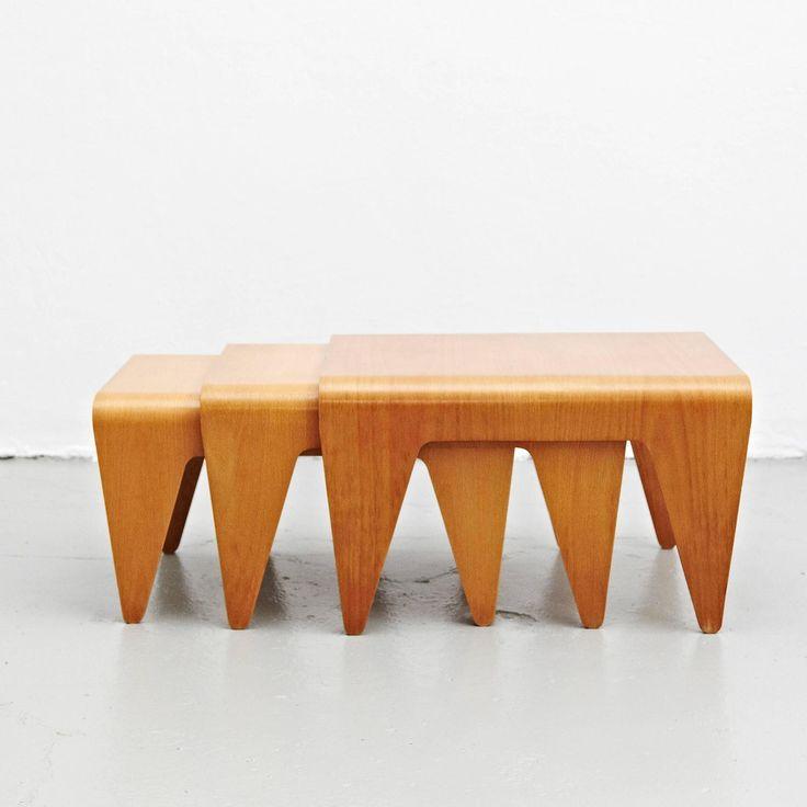 Perfect Set Of Three Marcel Breuer Nesting Tables, Circa 1936