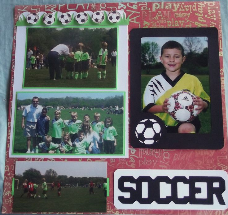 Play Soccer Layout 1 - Scrapbook.com