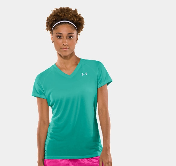 I need some Under Armour gear in my life! Women's UA Tech™ Shortsleeve V-Neck