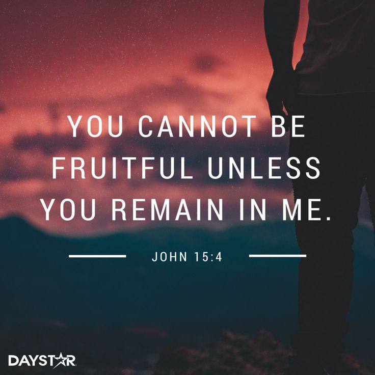 In order to be fruitful, you have to carry God within you, because the Love of God multiplies and doesn't divide!