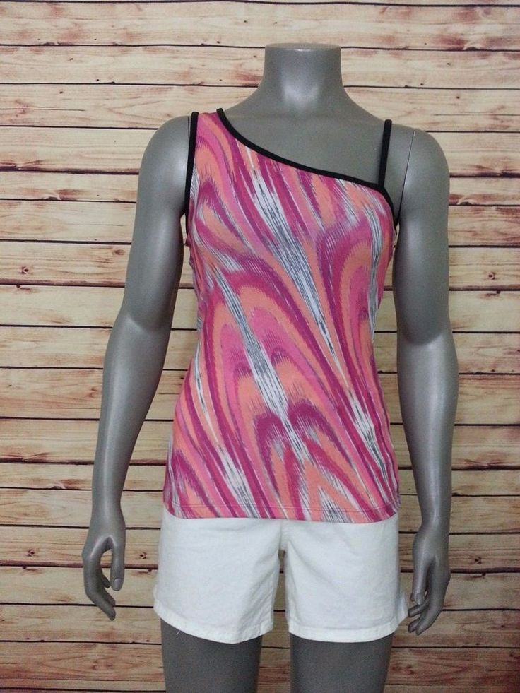 prAna yoga gym athletic tank top shelf bra print womens size S workout casual #prAna #ShirtsTops