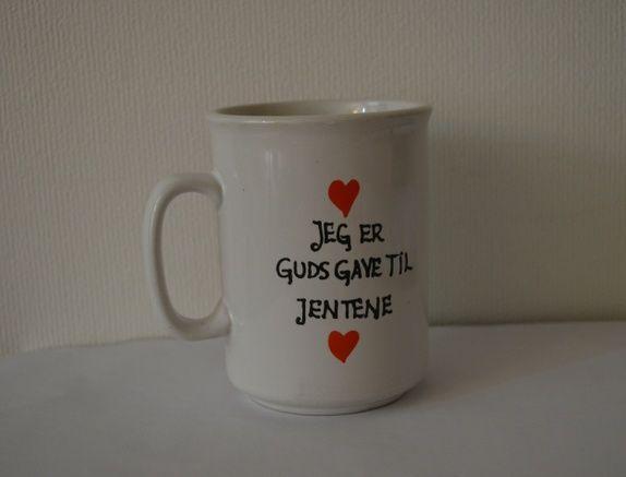 Guds gave til jentene BITTE kopp i keramikk