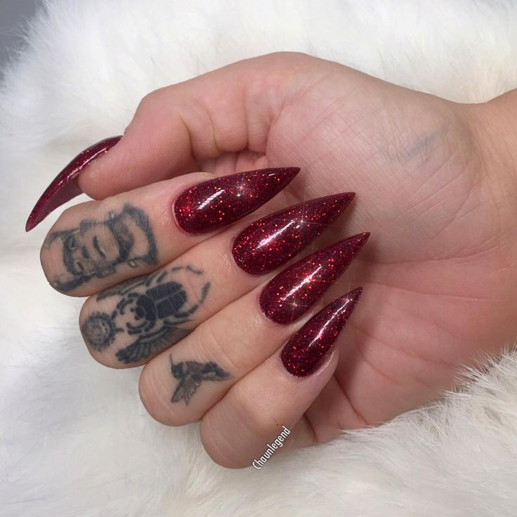 Red Ruby Slippers for @queenofblood | Nails on fleek ...