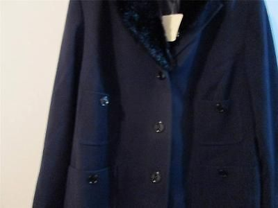 Jones-New-York-New-Dark-Blue-Professional-Executive-Women-Basic-Coat-Plus-3X