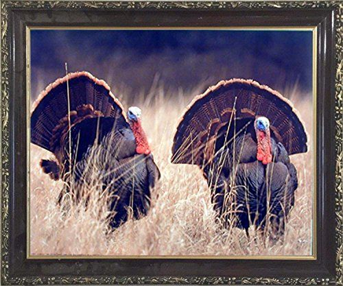 Pair Of Wild Turkeys Animal Bird Hunting Wall Decor Mahog... Https:/