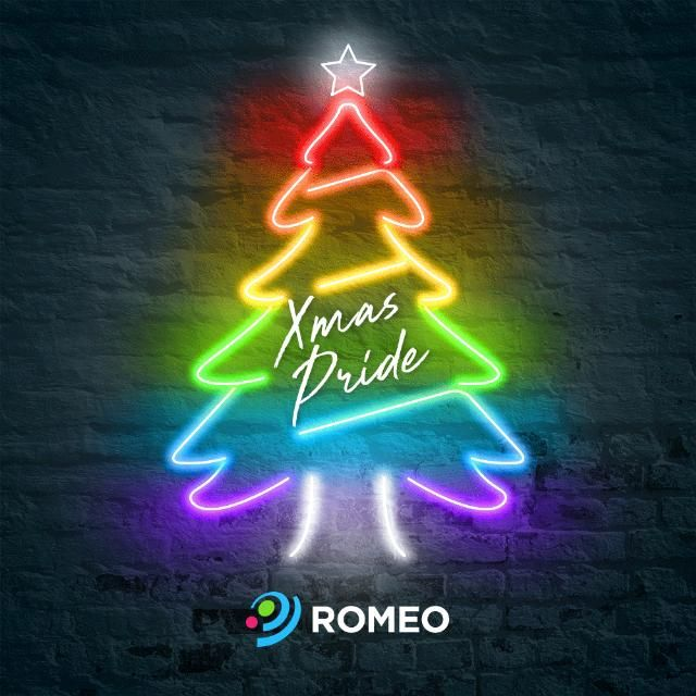 PLANETROMEO has created a collection of queer holiday-themed GIFs to help people share their holiday cheer just in time for Christmas.  / These custom animated GIFs give a gay twist to popular Christmas icons by replacing the classic Silver and Gold with a more fabulous Neon and Bold. Santa Claus, reindeer...