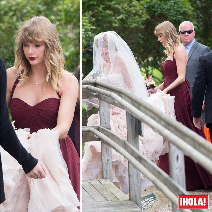 Ajena a la polémica que ha envuelto su última canción, Taylor Swift se convierte en dama de honor en la boda de su amiga Abigail Anderson. #taylorswift #abigailanderson #celebrity #invitada #look #boda