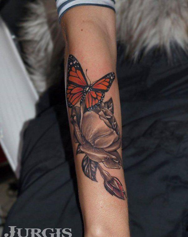 48 3D Butterfly Tattoo