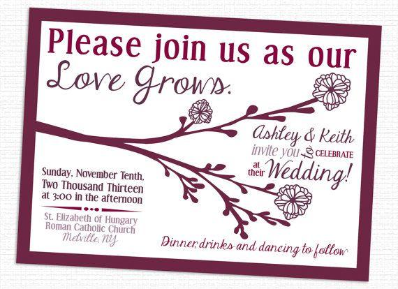 97 best my wedding designs images on pinterest wedding designs love grows tree wedding invitations christimariecreative stopboris Choice Image