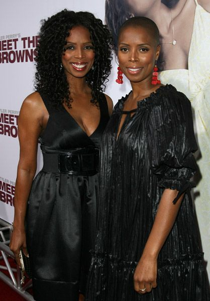 Tasha Smith & her twin sister