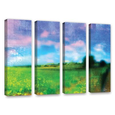 "Red Barrel Studio Homeland 4 Piece Painting Print on Wrapped Canvas Set Size: 24"" H x 32"" W x 2"" D"